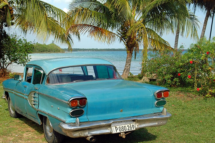 1950s Car At Playa Larga Bay Of Pigs Invasion Beach Cuba
