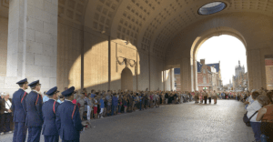 WWI memorial ceremony
