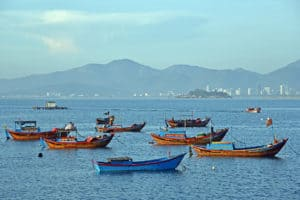 Nha Trang Fishing Boats Vietnam