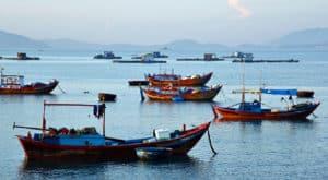 Nha Trang Vietnam Fishing Boats