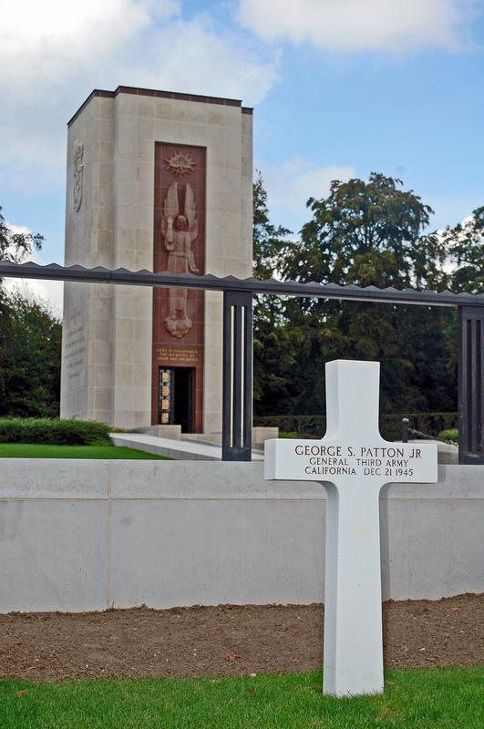 American Cemetery Luxembourg Patton Marker